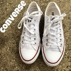 Converse All Star crochet oxford sneakers white 7